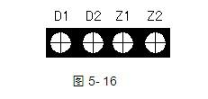 GST-LD-8317气体喷洒指示灯接线端子图