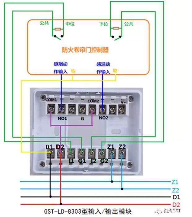 8303模块采用有源输出方式,输入端为无源常开触点的接线方法: