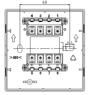 J-SAM-GSTN9311(Ex)防爆手动火灾报警按钮端子示意图