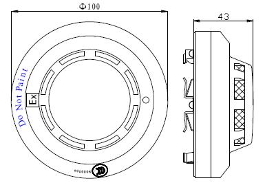 JTY-GM-GSTN9811(Ex)/T防爆点型光电感烟火灾探测器外形示意图