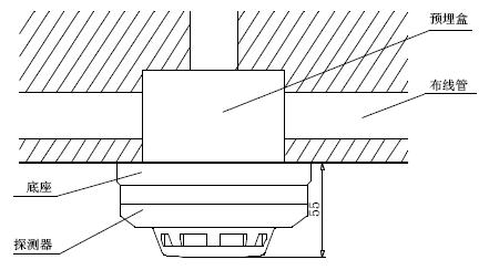 JTY-GM-GSTN9811(Ex)/T防爆点型光电感烟火灾探测器安装示意图
