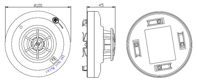 JTW-ZOM-GSTN9812(Ex)防爆点型感温火灾探测器外形示意图