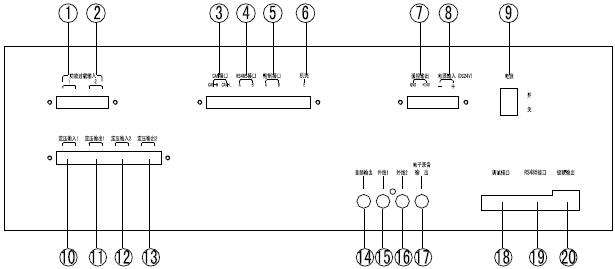 GST-GBFB-200/MP3广播分配盘接线图