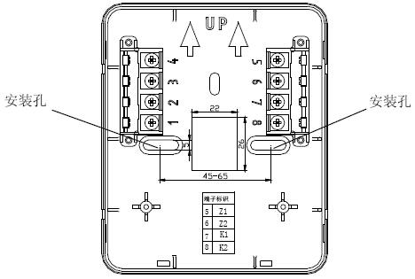 GST-LD-8318紧急启停按钮外接端子示意图
