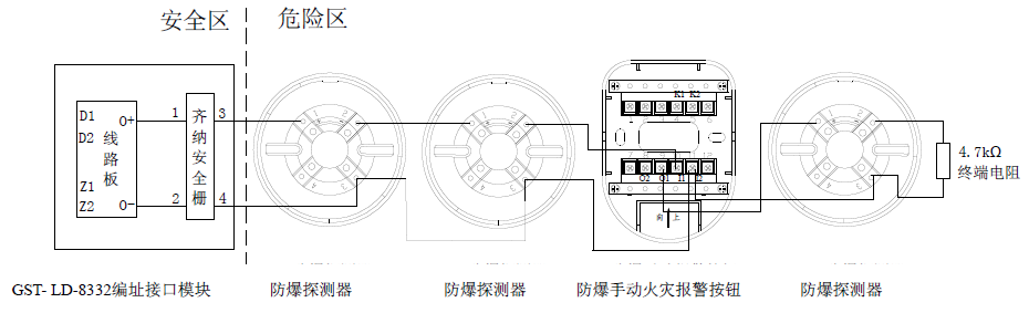 JTY-GF-GST104(Ex)/T点型光电感烟火灾探测器
