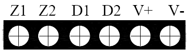 GST-BT001M点型可燃气体探测器对外接线端子示意图