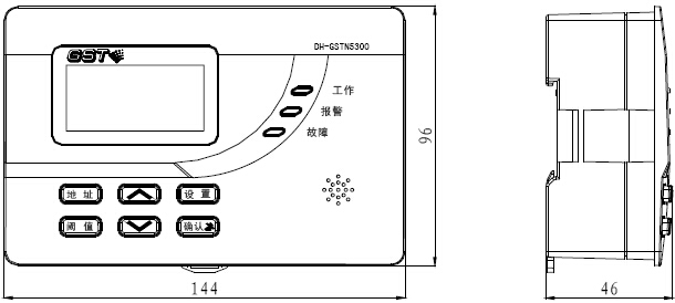 DH-GSTN5300/3探测器信号处理模块外形示意图