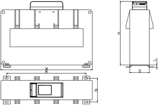 DH-GSTN5300/22F探测器传感器外形示意图