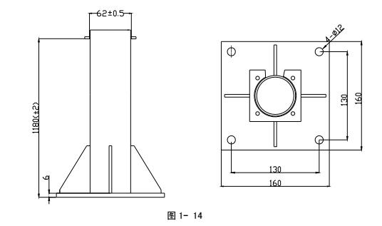 LZ1000型立柱的外形示意图