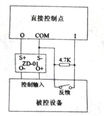 ZD-01终端附件与直接控制点接线示意图