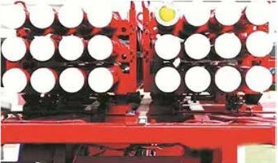远程控制灭火导弹发射车装配的灭火弹